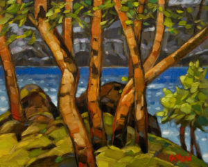 """Arbutus Cove,"" by Graeme Shaw 8 x 10 - oil (with high-gloss finish) $510 Unframed"