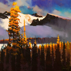 "SOLD ""Autumn Near the Summit,"" by Michael O'Toole 30 x 30 - acrylic $4000 Unframed"