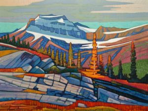 "SOLD ""Continental Range II,"" by Nicholas Bott 30 x 40 - oil $6060 Unframed"
