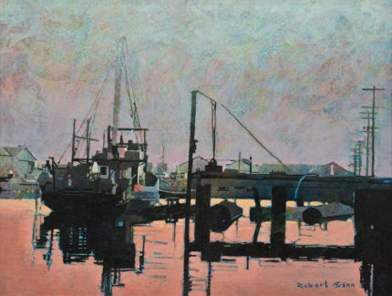"""Evening, Ucluelet"" (1985), by Robert Genn 16 x 20 - acrylic $7800 Framed"