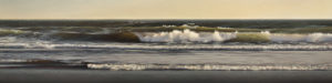 "SOLD ""Falling Tide,"" by Ray Ward 18 x 72 – oil $5450 (thick canvas wrap without frame)"