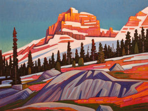 "SOLD ""Late November Light, Mt. Hector,"" by Nicholas Bott 30 x 40 - oil $6060 Unframed"