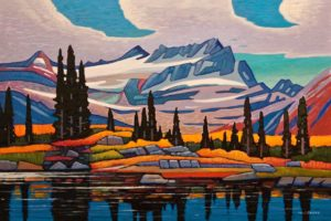 "SOLD ""Mnt. Longstaff Reflection,"" by Nicholas Bott 24 x 36 - oil $4380 Unframed"