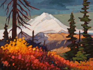 "SOLD ""Mount Baker Outlook,"" by Nicholas Bott 9 x 12 - oil $1330 Unframed"