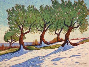 """Orchard Snow,"" by Nicholas Bott 18 x 24 - oil $2500 Unframed"