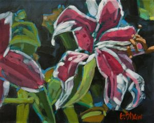 """Spring Lilies,"" by Graeme Shaw 8 x 10 - oil $510 Unframed"