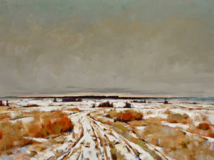 """Wild Winter,"" by Min Ma 30 x 40 - acrylic $5510 Unframed"