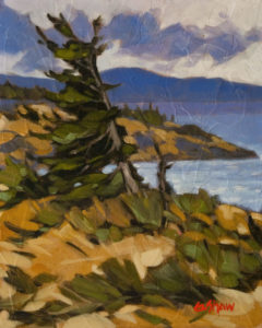 """Winchelsea Fir,"" by Graeme Shaw 8 x 10 - oil (with high-gloss finish) $510 Unframed"