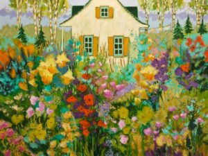 """The Amazing Secret Garden,"" by Claudette Castonguay 30 x 40 - acrylic $2750 Unframed"