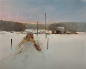 "SOLD ""Dying Light,"" by David Lidbetter 24 x 30 – oil $2600 (thick canvas wrap)"