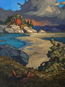 "SOLD ""Early Ice,"" by Phil Buytendorp 30 x 40 - oil $3680 Unframed"