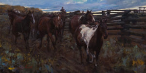 """Morning at Ranch,"" by Clement Kwan 12 x 24 - oil $3050 Unframed"