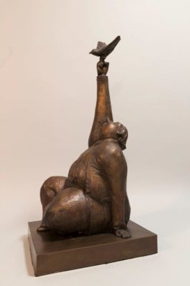 """One True Thing,"" by Michael Hermesh 30 (H) x 13 1/2 (L) x 13 1/2 (W) - bronze Edition of 15 $8000"