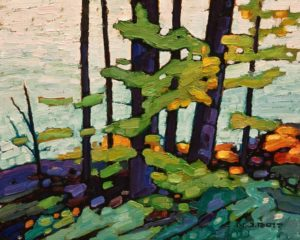 "SOLD ""Summer Greens,"" by Nicholas Bott 8 x 10 - oil $1090 Unframed"