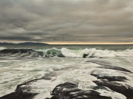 """Tidal Force,"" by Ray Ward 36 x 48 - oil $7150 (thick canvas wrap)"