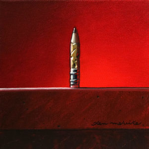 """What's the Point?"" by Glen Melville 6 x 6 - acrylic and oil $250 (thick canvas wrap)"