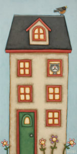 """""""The Alarm Clock,"""" by Peter Wyse 8 x 16 - acrylic $840 (unframed panel with 1 1/2"""" edges)"""