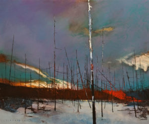 "SOLD ""Burnt Land No. 5,"" David Lidbetter 20 x 24 – oil $1895 (thick canvas wrap)"