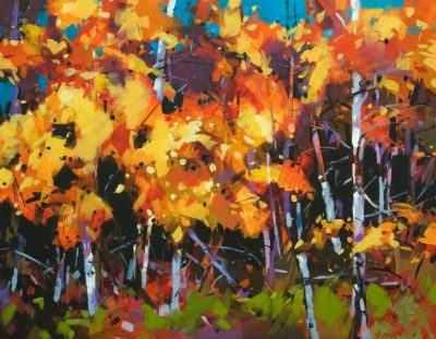 """Cariboo Fall Aspen"" 14 x 18 - acrylic $1840 (thick canvas wrap)"