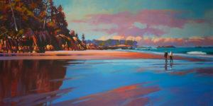 "SOLD ""Coastal Reflections (Calvert Island)"" by Mike Svob 30 x 60 - acrylic $10,325 Unframed"
