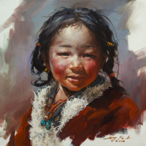 "SOLD ""Evening Warmth"" by Donna Zhang 18 x 18 – oil $2780 Unframed"
