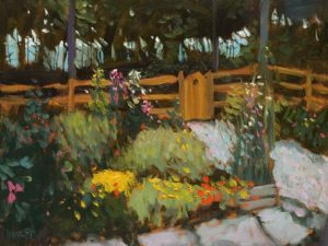 """Garden by the Sea,"" by Paul Healey 12 x 16 - oil $700 Unframed"