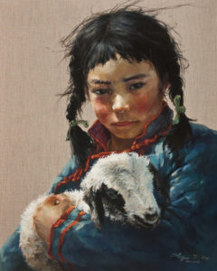 """""""Keeper,"""" by Donna Zhang 24 x 30 - oil $5420 (thick linen wrap)"""