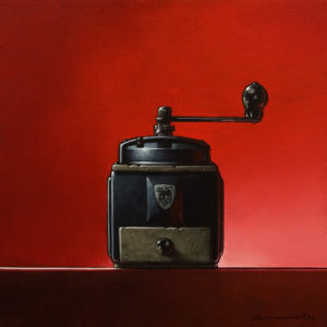 """Little Black Number,"" by Glen Melville 16 x 16 - acrylic and oil $875 (thick canvas wrap)"