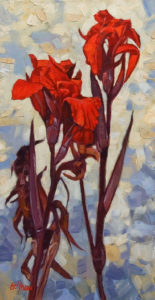 "SOLD ""Reaching For the Sun"" by Graeme Shaw 12 x 24 – oil $1065 Unframed"