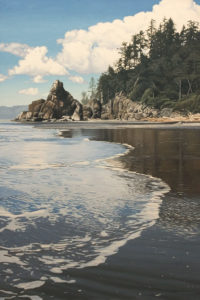 """Ruby Beach,"" by Ron Parker 24 x 36 - oil $4800 Unframed"