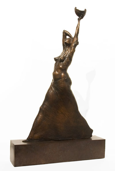 """""""Serendipity,"""" by Michael Hermesh 25 1/2"""" (H) x 15"""" (L) - bronze No. 1 of edition of 15 $5500"""