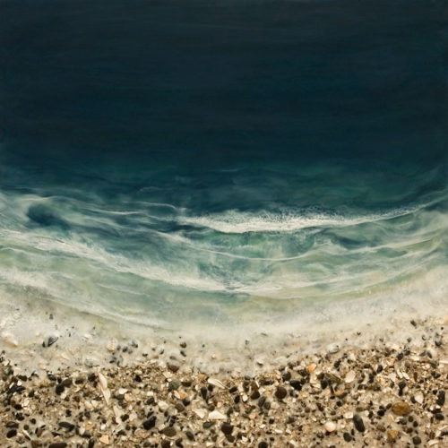 """West Coast No. 264,"" by Brenda Walker 30 x 30 - encaustic and mixed media $1950 cradled panel"