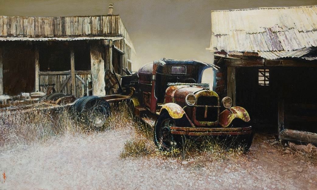 """Ghost Town Relic,"" by Alan Wylie 18 x 30 - oil $6080 Unframed"