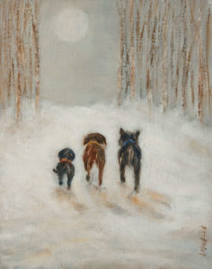 """Good Night to Howl,"" by Bev Binfet 11 x 14 - oil $600 Unframed"