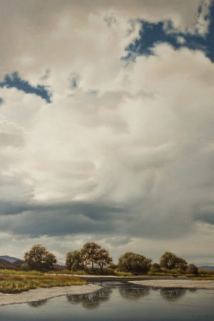 """June Clouds Ascending,"" by Ray Ward 20 x 30 - oil $3000 Unframed"
