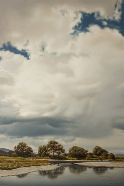 """""""June Clouds Ascending,"""" by Ray Ward 20 x 30 - oil $3000 Unframed"""