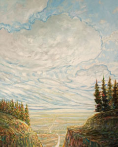 """Mountain to Prairie,"" by Steve Coffey 24 x 30 - oil $2375 (thick canvas wrap)"