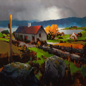 "ON HOLD ""North of Galway, Ireland,"" by Michael O'Toole 30 x 30 - acrylic"