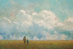 """Soft Field Walk,"" by Steve Coffey 24 x 36 - oil $2640 Unframed"