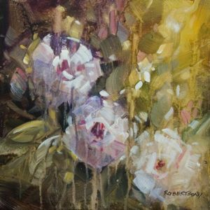 "SOLD ""Sweetness and Light"" by Janice Robertson 12 x 12 – acrylic $730 (thick canvas wrap)"
