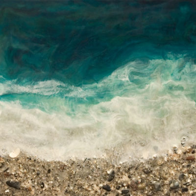"""West Coast No. 252,"" by Brenda Walker 16 x 16 - encaustic and mixed media $795 (cradled panel)"