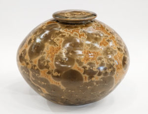 "Lidded vessel (BB-4373) by Bill Boyd crystalline-glaze ceramic - 8.5"" (H) x 11"" (W) $650"