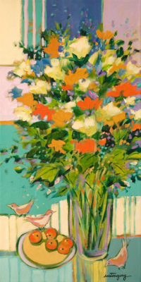 """""""The Colours of the Summer Season,"""" by Claudette Castonguay 10 x 20 - acrylic $540 Unframed"""