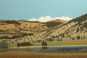 """Guichon Ranch - South End of Nicola Lake,"" by Ken Kirkby 24 x 36 - oil $2600 Unframed"