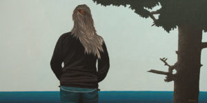 """In the Beginning,"" by Ken Kirkby 24 x 48 - oil $3450 Unframed"