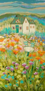 """It Will Be a Beautiful Day,"" by Claudette Castonguay 15 x 30 - acrylic $1050 Unframed"