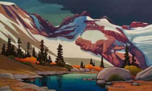 "SOLD ""Mount Fitzsimmons,"" by Nicholas Bott 36 x 60 - oil $8670 Unframed"