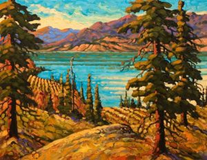 "SOLD ""Naramata, Late Summer,"" by Rod Charlesworth 14 x 18 - oil $1570 Unframed"