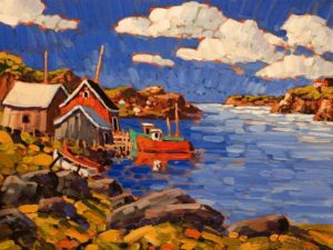 """Quiet Cove, Nova Scotia,"" by Rod Charlesworth 12 x 16 - oil $1395 Unframed"