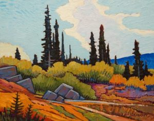 "SOLD ""Seasons Change,"" by Nicholas Bott 11 x 14 - oil $1380 Unframed"